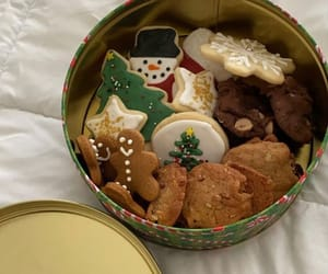 baking, christmas cookie, and biscuit tin image