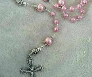 cross, pale, and pink image