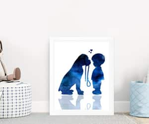 etsy, child and dog, and boys room decor image
