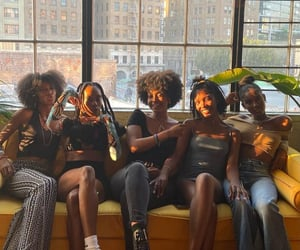 Afro, fashion, and summer image