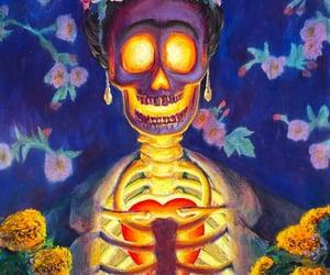 skull, art, and hippie image