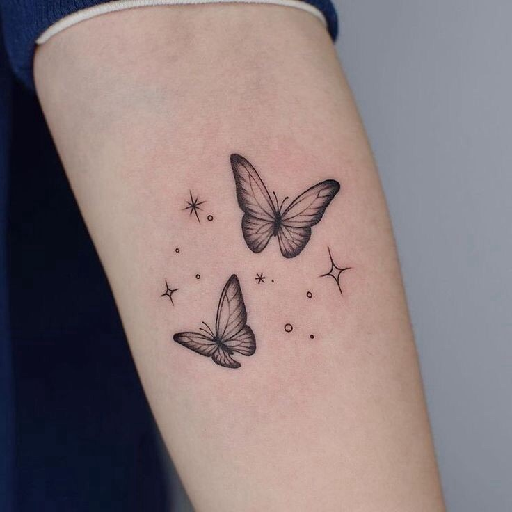 tattoo, butterfly, and inked image
