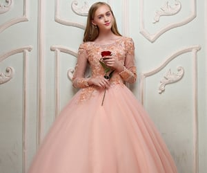 ball gown, blonde, and Full Skirt image