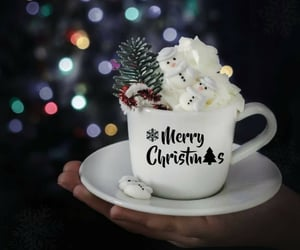 cup of coffee, coffee time, and christmas coffee image