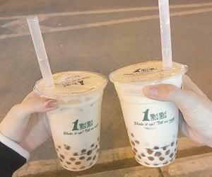 boba, drinks, and milk tea image
