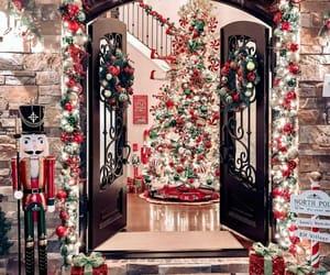 christmas, christmas tree, and christmas lights image