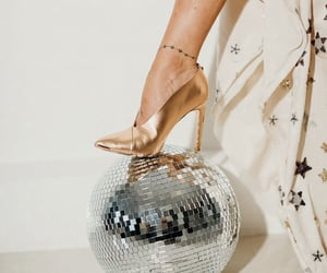 champagne, disco, and gold image