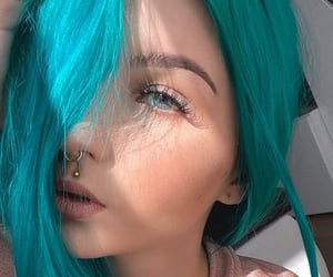 cabelo azul, blue, and color hair image