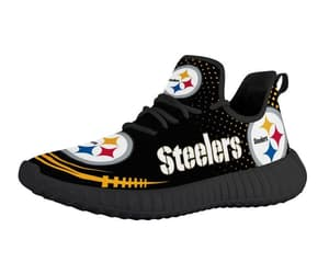 etsy, running shoes, and pittsburgh steelers image