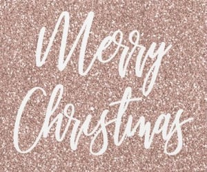decoration, merry christmas, and rose gold image