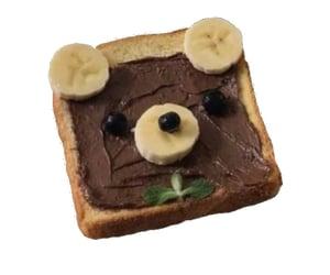 banana, bear, and chocolate image