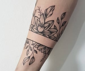 arms, flowers, and forearm image