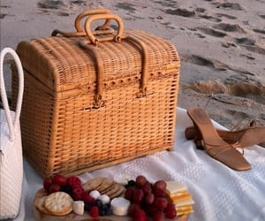 bag, beach, and berry image