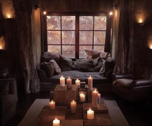 cozy, interiors, and rustic image