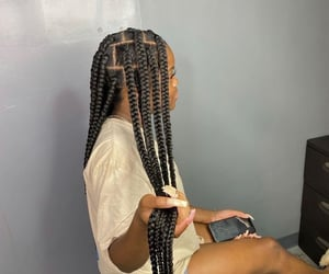 braids, long, and cute image
