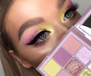 eye makeup, eyes, and purple eyeshadow image