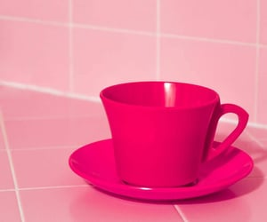 coffee, cup, and pink image
