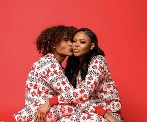 christmas, couples, and melanin image