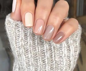 nail polish, nails, and nudes image