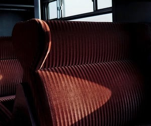 brown, train, and seats image