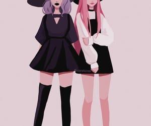 black, blackpink, and pink image