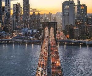 bridge, buildings, and city image