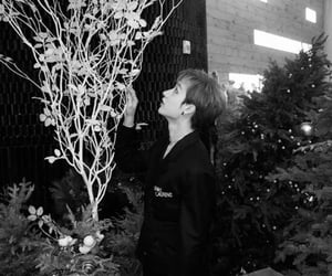 aesthetic, black and white, and kpop image