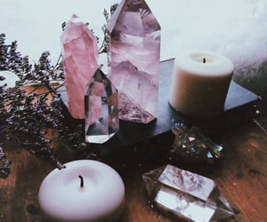 crystal, witch, and pink image