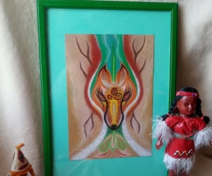 the shaman figure, lis oil pastel, and a mystical figure image