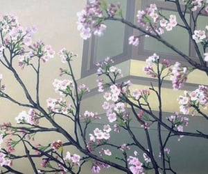 anime, flowers, and spring image