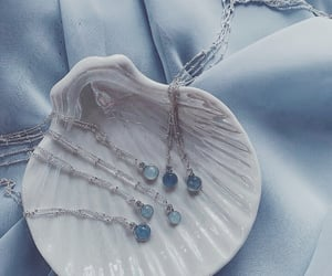 blue, aesthetic, and jewelry image