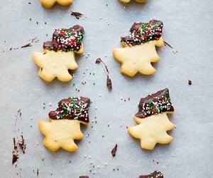 chocolate, christmas, and christmas cookies image