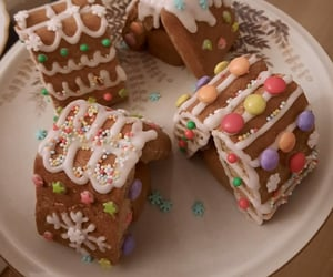 christmas, gingerbread, and smarties image