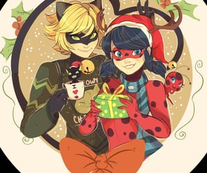 Chat Noir, tikki, and ladynoir image