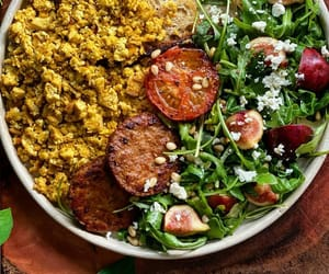 breakfast, feta cheese, and salad image