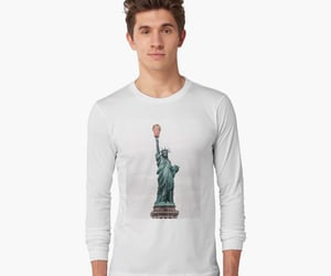 trump, art, and statue of liberty image