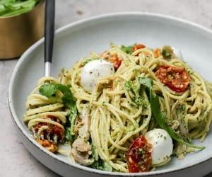 mozzarella, spaghetti, and mascarpone cheese image
