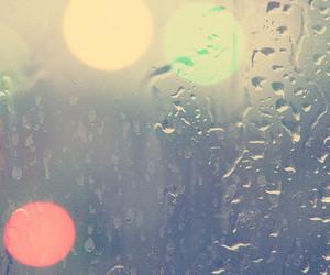 bokeh and rain image