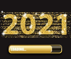 happy, loading, and new year image