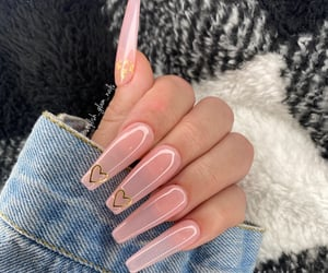 Jelly Pink Hearts Gel Press On Nails set