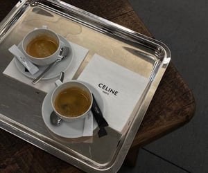 coffee, celine, and cafe image