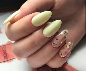 nails, yellow, and stars image