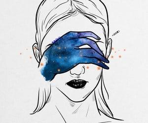 galaxy, stars, and love image