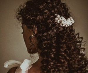 curls, greek gods, and flowers image