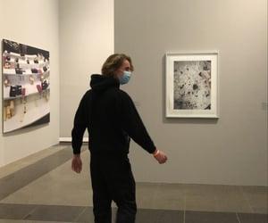 art, art gallery, and black image