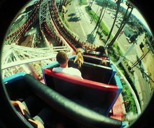 fish eye, fun, and Roller Coaster image