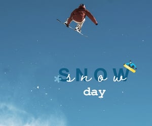 beauty, snowboard, and snowflake image