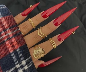 claws, long nails, and red image