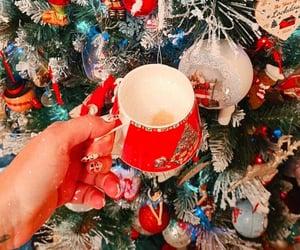 christmas, decoration, and mug image