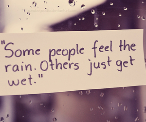 rain, quotes, and wet image